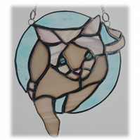 Siamese Cat Suncatcher Stained Glass 009