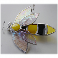 Bee Suncatcher Stained Glass Bumble Queen 019