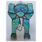 Elephant Stained Glass Suncatcher Handmade 025