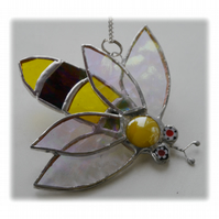 Bee Suncatcher Stained Glass Bumble Queen 020