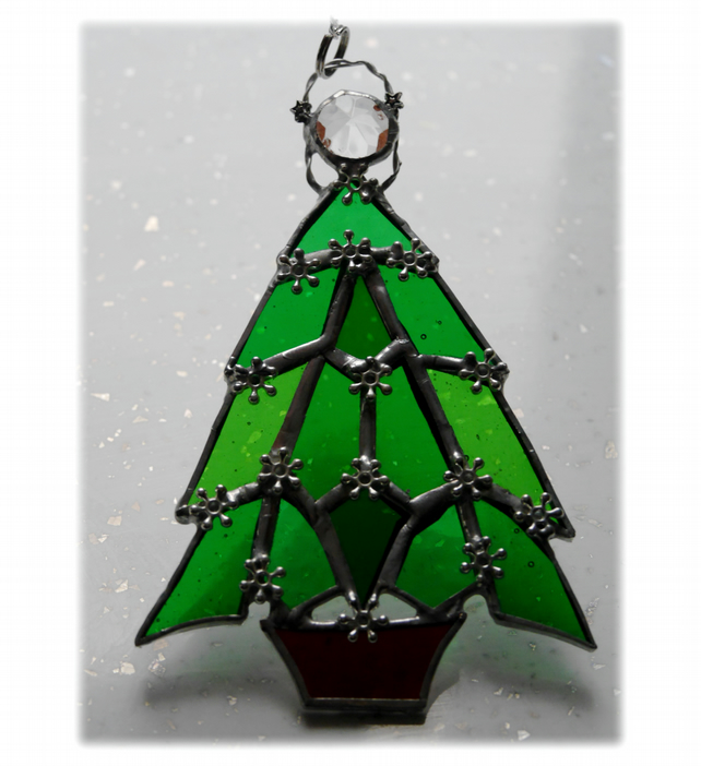 Christmas Tree Suncatcher Stained Glass Stars 003