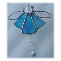 Angel Bell Suncatcher Stained Glass Turquoise 037