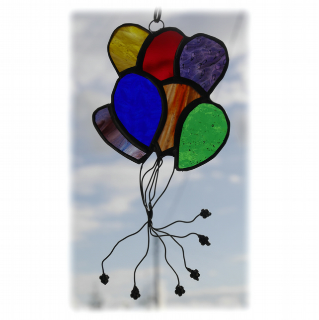Balloons Suncatcher Stained Glass 007