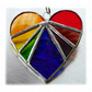 Love Heart Rainbow Stained Glass Suncatcher 8cm 036