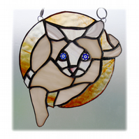 Siamese Cat Suncatcher Stained Glass 010