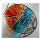 Sunset Ocean Waves Stained Glass Suncatcher 005