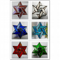Star of David Magen Suncatcher Stained Glass  - Choice of 6 colours