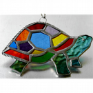 Tortoise Suncatcher Stained Glass Handmade Rainbow  020 Turtle
