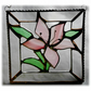 Lily Stained Glass Suncatcher Pink Framed 013