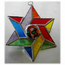 Star of David Magen Suncatcher Stained Glass  Rainbow