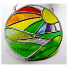 New Day Stained Glass Suncatcher Handmade Rainbow Ring 011