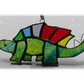 Dinosaur Suncatcher Stained Glass Stegosaurus Green 026