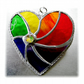 Rainbow Swirl Heart Stained Glass Suncatcher 008