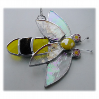Bee Suncatcher Stained Glass Bumble Queen 022