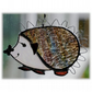 Hedgehog Suncatcher Stained Glass Handmade 033 Left