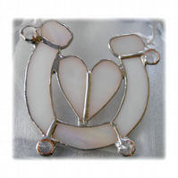 Wedding Horseshoe Heart Stained Glass Suncatcher 002