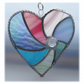 Pastel Swirl Heart Stained Glass Suncatcher 013