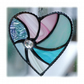 Pastel Swirl Heart Stained Glass Suncatcher 012