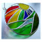 New Day Stained Glass Suncatcher Handmade Rainbow Ring 013