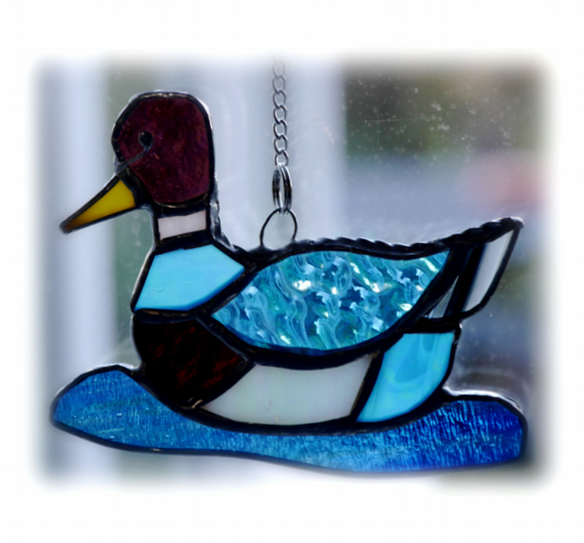 Duck Suncatcher Stained Glass Mallard Quack 027