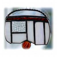 Caravan Suncatcher Stained Glass Mini Red 027