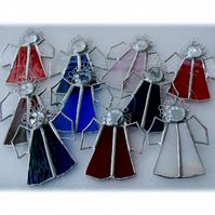 Angel Stained Glass suncatcher Christmas Tree decoration