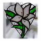 :Lily Heart Suncatcher Stained Glass 003