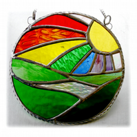 New Day Stained Glass Suncatcher Handmade Rainbow Ring 016