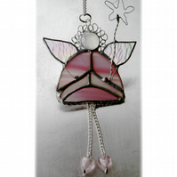 Fairy Godmother Stained Glass Suncatcher Pink 009