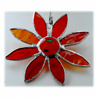 Gerbera Suncatcher Stained Glass Amber Flower 011