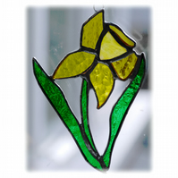 Daffodil Suncatcher Stained Glass Handmade Spring Flower 021