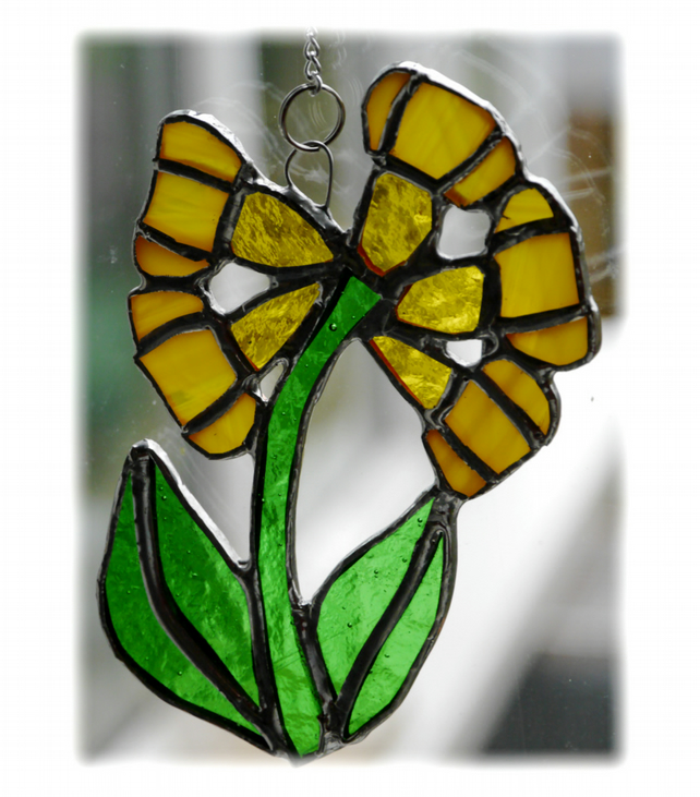 Cowslip Suncatcher Stained Glass Yellow Spring Flower