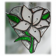 :Lily Heart Suncatcher Stained Glass 005