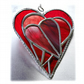 Triple Heart Stained Glass Suncatcher 004