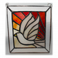 Sunset Dove Stained Glass Picture Suncatcher Handmade 005