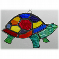 Tortoise Suncatcher Stained Glass Handmade Rainbow 023 Turtle