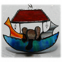 Noahs Ark Suncatcher Stained Glass Handmade 025