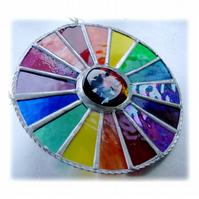 Summer Solstice Rainbow Burst Suncatcher Stained Glass Handmade 024