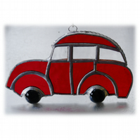 Car Stained Glass Suncatcher Handmade Red