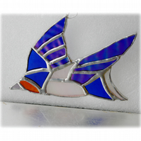 Swallow Suncatcher Stained Glass Handmade Bird 005