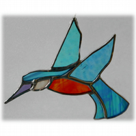 Kingfisher Suncatcher Stained Glass British Bird Handmade 048