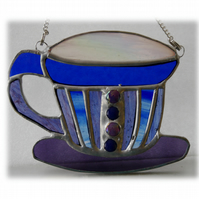 Teacup Stained Glass Suncatcher coffee cup mug 009
