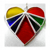 Love Heart Rainbow Stained Glass Suncatcher 8cm 037
