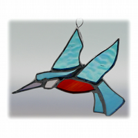 Kingfisher Suncatcher Stained Glass British Bird Handmade 049