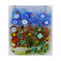 Flower Garden Picture Fused Glass 002