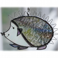 Hedgehog Suncatcher Stained Glass Handmade 039 Left