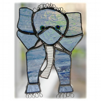 Elephant Stained Glass Suncatcher Handmade 026