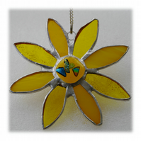 Sunflower Suncatcher Handmade Stained Glass 036