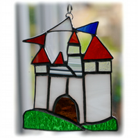 Castle Suncatcher Stained Glass Fairytale Handmade 011