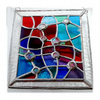 Treasure Chest Stained Glass Suncatcher Handmade 001 Abstract